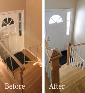 Before and after stair railing